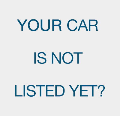 The top for your car is not on the list yet? Click here!