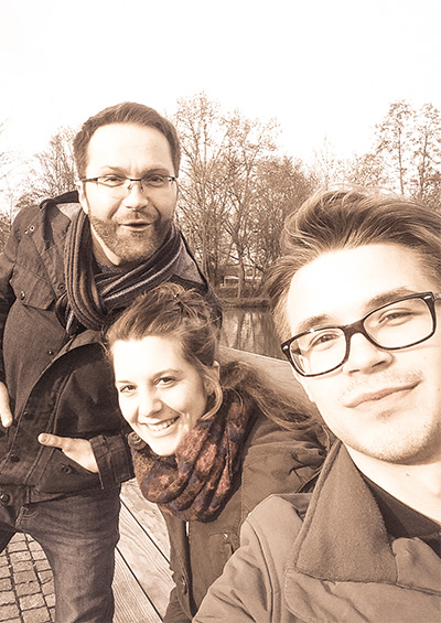 CK-Cabrio's Team Photos: f.l.t.r. Kamil, Ann-Kathrin, Carlo